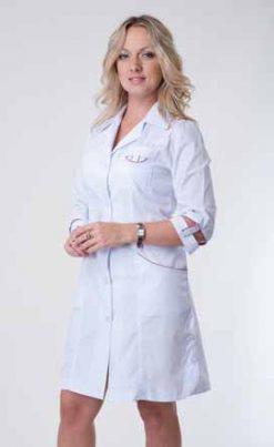 Жіночий медичний халат 2129