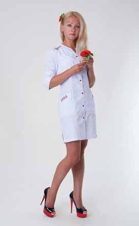 Жіночий медичний халат 2143