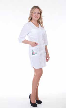 Жіночий медичний халат 2163