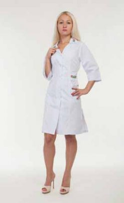 Жіночий медичний халат 3124